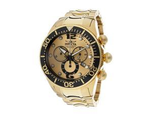 Invicta Men's Lupah Chronograph Gold Tone Dial 18K Gold Plated Stainless Steel