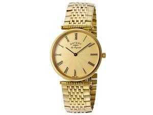 Rotary Men's Les Originales Gold Textured Dial Gold Tone Ion Plated Stainless St