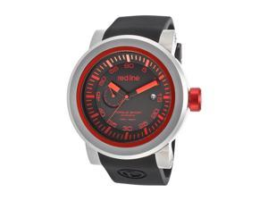 Red Line Men's Torque Sport Automatic Black Dial Black Silicone
