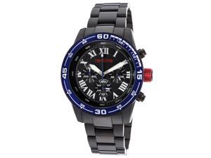Volt Chrono Black IP SS Black Dial Blue Bezel