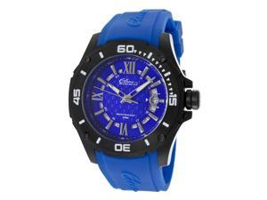 Men's Artisan Blue Textured Dial Blue Silicone