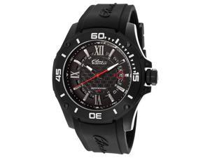 Elini Barokas Artisan Men's Black Dial Black Rubber Analog Watch