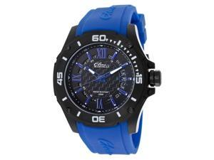 Elini Barokas Artisan Men's Black Dial Blue Rubber Analog Watch