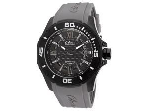 Elini Barokas Men's Artisan Black Textured Dial Grey Rubber
