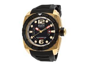 Commander Black Silicone & Textured Dial Gold-tone Accent