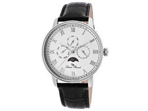 Lucien Piccard Men's Moubra White Dial Black Genuine Leather