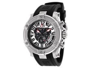 Men's Gladiator Chronograph Black Silicone Black Dial