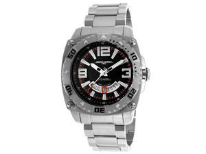 Jorg Gray Solid Stainless Steel Bracelet Black Dial Men's watch #JG9800-21