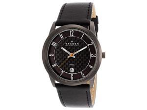 Skagen 124XLMLBC Men's Quartz Stainless Steel Black Dial Watch