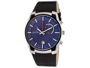 Skagen 853XLSLN Men's GMT/Alarm Function Blue Dial Watch