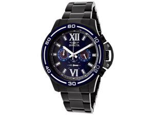 Invicta Men's Specialty Chronograph Blue Dial Gunmetal IP Stainless Steel