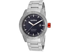 Red Line Men's Mileage Automatic Blue Dial Titanium Stainless Steel