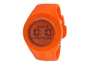 Juicy Couture Women's Digital Orange Dial Orange Rubber