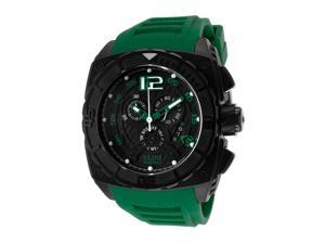 Commander Chronograph Green Silicone Black Dial