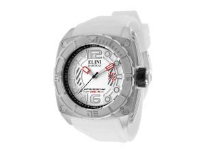 Commander White Silicone & Textured Dial Silver-tone Accent
