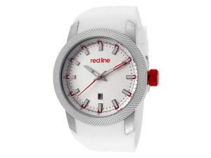 Red Line Men's Gauge White Dial White Silicone