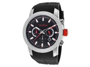 Red Line Men's Gauge Chronograph Black Dial Black Silicone