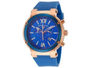 Swiss Legend Men's Legato Cirque Chronograph Blue Dial Blue Silicone