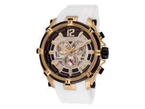 Men's Fortitudo Chronograph Silver Dial White Rubber
