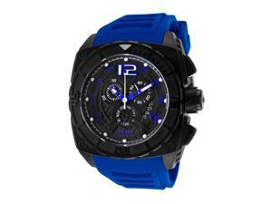 Elini Barokas Men's Commander Chronograph Black Dial Blue Rubber