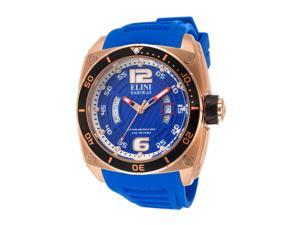 Commander Royal Blue Silicone & Textured Dial Rose-tone Accent