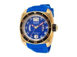 Commander Royal Blue Silicone & Textured Dial Gold-tone