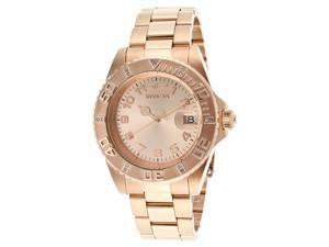 Invicta Women's Pro Diver Rose Gold Tone Dial 18K Rose Gold Plated Stainless Ste