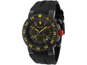 RPM Chrono Black Silicone Black Dial Yellow Accent with Date