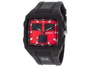 Oxbow Men's Multi-Function Black Rubber Red Dial