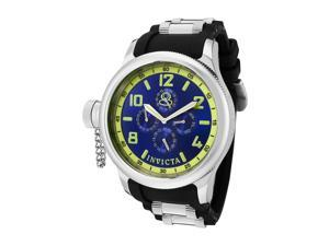 Men's Russian Diver Multi-Function Black Polyurethane and SS Blue Dial