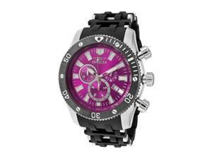 Men's Sea Spider Chronograph Purple Dial Black Polyurethane & Stainless Steel