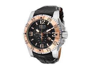 Invicta 10899 Men's Reserve Excursion Watch - Black Textured Dial Rose Gold Tone Bezel