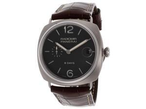 Panerai Men's Mechanical Brown Dial Brown Genuine Alligator
