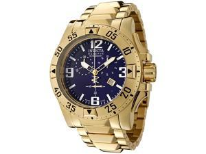 Men's Reserve/Excursion Chronograph 18k Gold Plated Stainless Steel