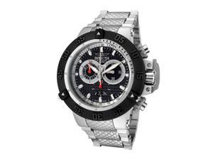Men's Subaqua Chronograph Silver-Tone Stainless Steel Black Dial