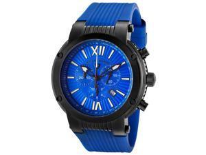 Swiss Legend Legato Cirque Men's Blue Dial Silicone Analog Watch