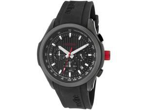 Men's Starter Chronograph Black Textured Dial Black Silicone