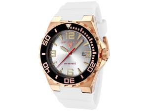 Men's Expedition Silver Dial Rose Gold Tone Case White Silicone