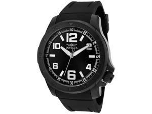 Men's Specialty Black Polyurethane Black Dial