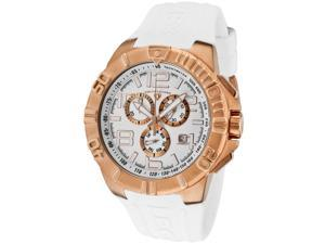 Super Shield Chronograph White Silicone and Dial Rose-Tone Case