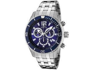 Men's Invicta II Chronograph Blue Dial Stainless Steel