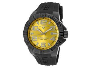 Super Shield Black Silicone Black Yellow Dial IP SS Case