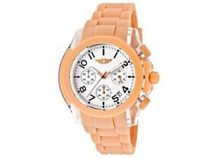 Men's Chronograph Salmon Polyurethane White Dial