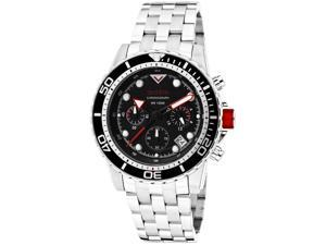 Red Line Men's Piston Chronograph Black Dial Stainless Steel