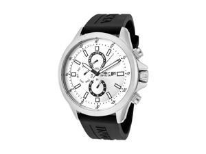 Invicta Specialty Men's Silver Dial Black Polyurethane Watch