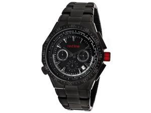 Travel Chronograph Black Ion Plated Stainless Steel Black Dial