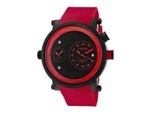 Specialist Red Silicone Black Dual Time Dial