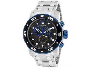 Men's Pro Diver Chronograph Black Carbon Fiber Dial Stainless Steel