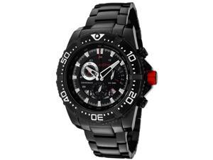 Red Line Men's Racer Chronograph Watch - Black Ion Plated Stainless Steel