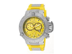 Men's Subaqua Chrono Yellow Polyurethane SS Yellow Dial